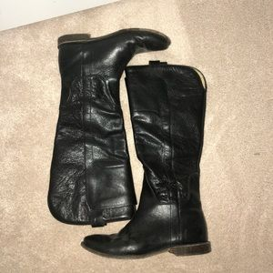 Black Paige Tall Riding Boots